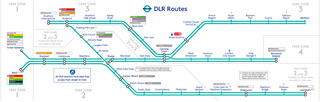 Docklands Light Railway (DLR) netzplan