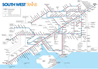 South West Trains netzplan